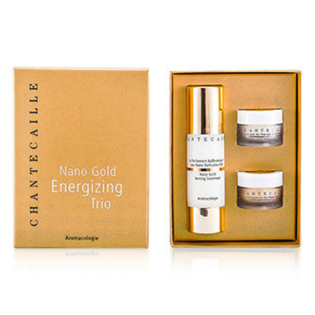 Chantecaille Nano Gold Energizing Trio: Firming Treatment 50ml + Face Cream 15ml + Eye Cream 15ml 3pcs