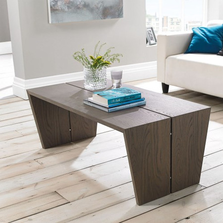City Weathered Oak and Grey Panel Coffee Table
