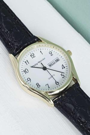 Classic Grandad Date Watch white