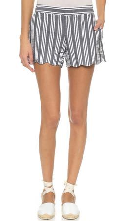 Club Monaco Amber Shorts - Blue/White Stripe