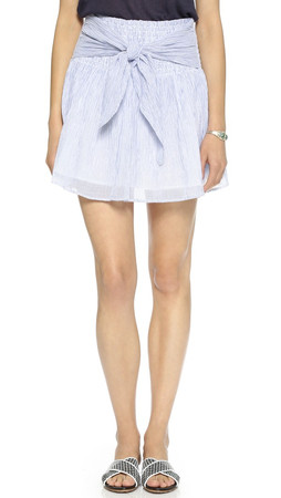 Club Monaco Devlan Skirt - Blue Stripe