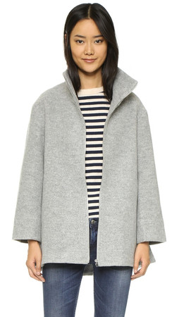 Club Monaco Grieta Coat - Pale Heather Grey