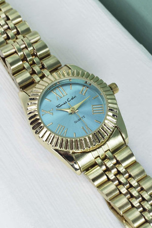 Colour Faced Bracelet Watch blue