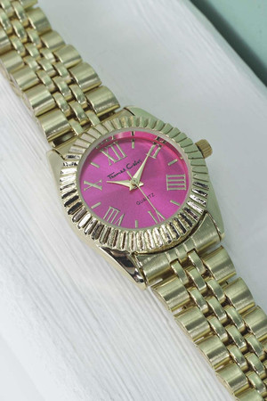 Colour Faced Bracelet Watch pink