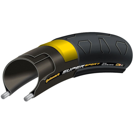 Continental SuperSport Plus Folding Road Tyre - 23mm 700c