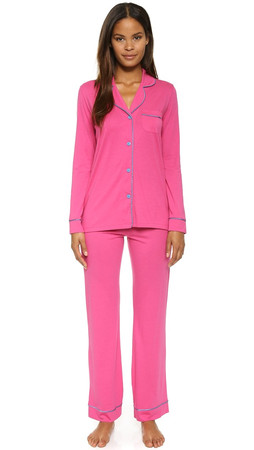 Cosabella Bella Pajama Sleep Set - Dragon Fruit/Bluet Flower