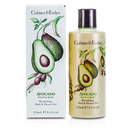 Crabtree & Evelyn Avocado& Olive & Basil Revitalising Bath & Shower Gel 250ml/8.5oz