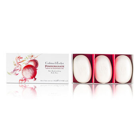 Crabtree & Evelyn Pomegranate& Argan & Grapeseed Skin Replenishing Body Bar Set 3x140g/4.9oz