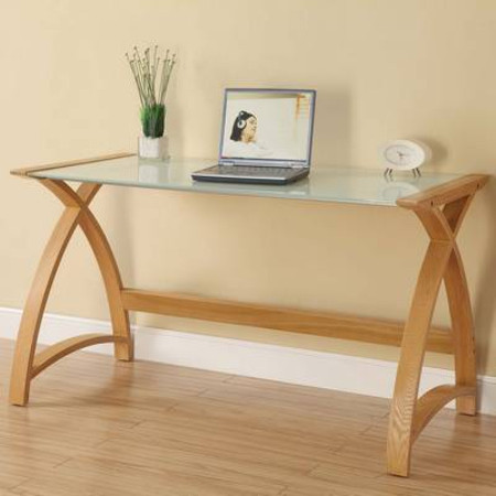 Curve Laptop Table Oak