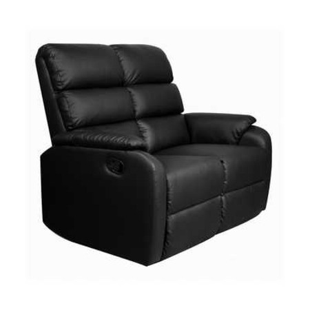 Dallas Recliner 2 Seater Sofa (Black)
