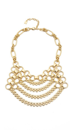 Dannijo Jackson Bib Necklace - Gold
