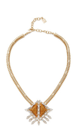 Dannijo Leighton Necklace - Gold/Crystal/Italian Mustard
