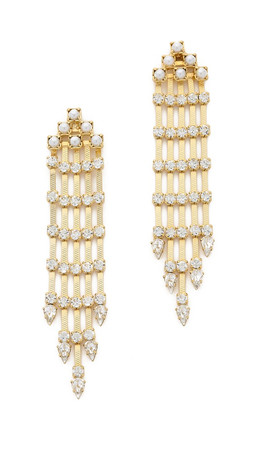 Dannijo Riles Earrings - Clear/Gold