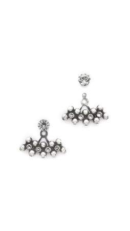 Dannijo Ronnie Earrings - Clear/Silver Ox