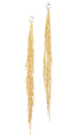 Dannijo Sasha Earrings - Clear/Gold
