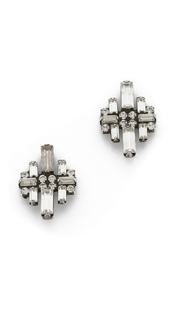 Dannijo Talia Earrings - Silver/Crystal