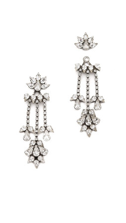 Dannijo Vika Earrings - Clear/Silver Ox