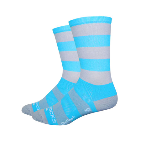 """DeFeet Aireator 6"""" Sako7 Socks - Extra Large Carolina Blues"""