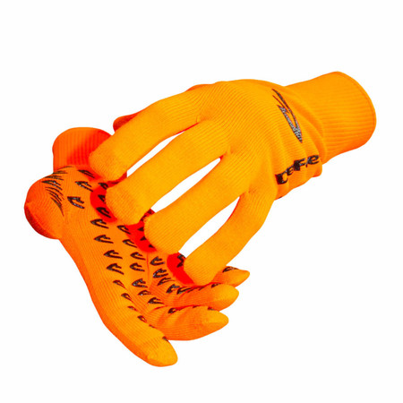 DeFeet - E-Touch Neon Dura Gloves - Large Orange | Long Finger Gloves