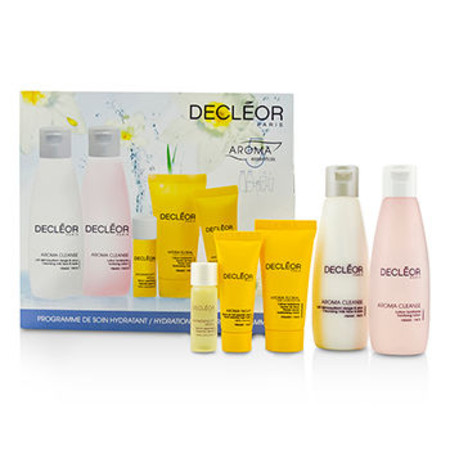 Decleor Hydration Starter Kit: Cleansing Milk 75ml + Tonifying Lotion 75ml + HydraFloral Cream 15ml + Neroli Serum 5ml + Neroil Balm 5ml 5pcs