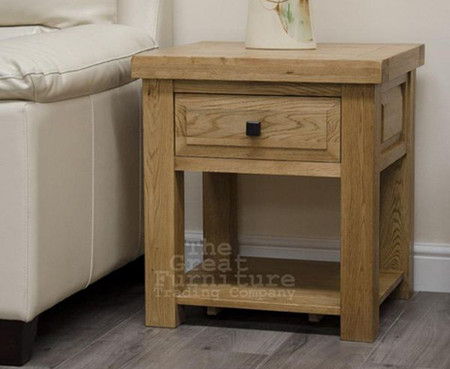 Deluxe Solid Oak Lamp Table