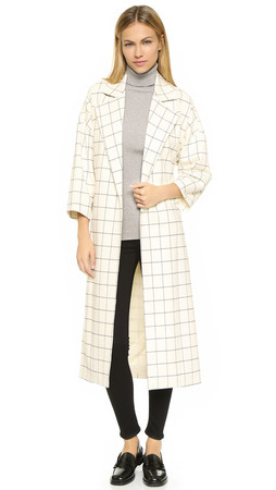 Derek Lam 10 Crosby Flannel Trench Coat - Ivory