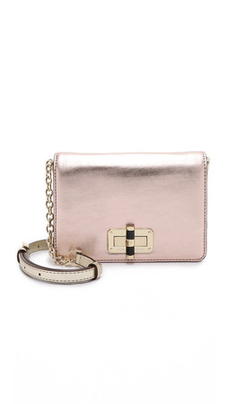 Diane Von Furstenberg 440 Gallery Bellini Cross Body Bag - Light Gold/Pink Koi