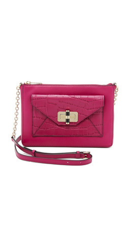 Diane Von Furstenberg 440 Gallery Uptown Cross Body Bag - Cerise