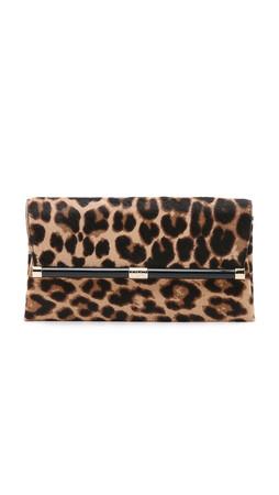 Diane Von Furstenberg 440 Haircalf Envelope Clutch - Leopard