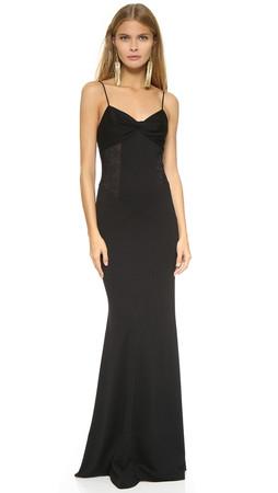 Diane Von Furstenberg Femme Fatale Gown - Black/Black