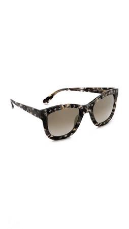 Diane Von Furstenberg Haley Sunglasses - Black Marble
