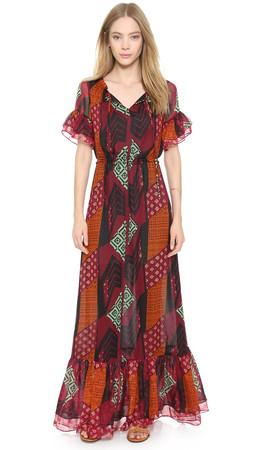 Diane Von Furstenberg Jane Maxi Dress - Ethnic Collage