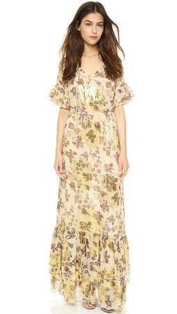 Diane Von Furstenberg Jane Maxi Dress - Raisin/Calico