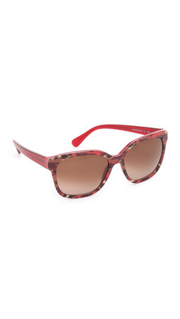 Diane Von Furstenberg Julianna Sunglasses - Red Animal/Brown