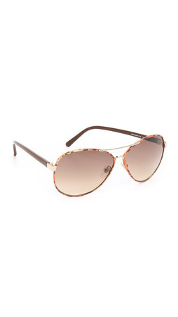 Diane Von Furstenberg Sental Sunglasses - Gold/Brown