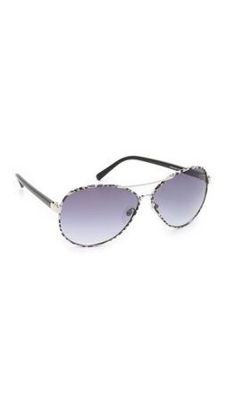 Diane Von Furstenberg Sental Sunglasses - Silver/Grey
