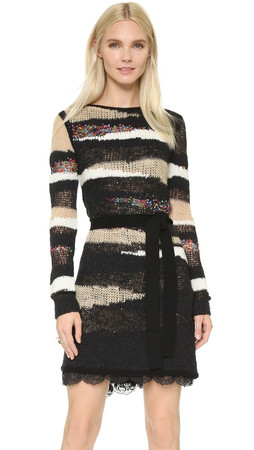 Diane Von Furstenberg Slash Back Wrap Dress - Multi