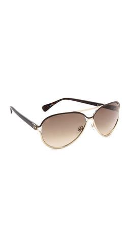 Diane Von Furstenberg Stella Sunglasses - Brown