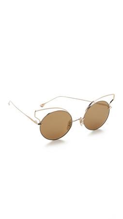 Dita Believer Sunglasses - Tan Gold/Gold Flash