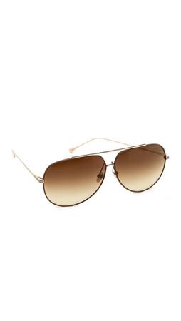 Dita Condor Aviator Sunglasses - Dark Brown