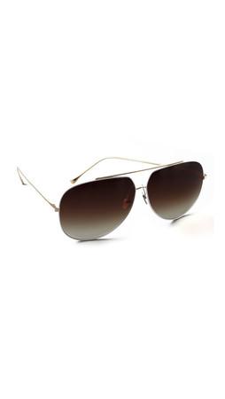 Dita Condor Aviator Sunglasses - White
