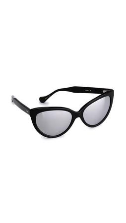Dita Eclipse Sunglasses - Black/Silver Mirror