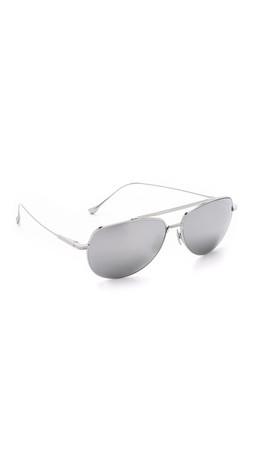 Dita Flight 004 Sunglasses - Silver/Silver Mirror
