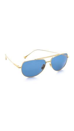 Dita Polarized Flight 004 Sunglasses - Gold/Dark Grey Blue Mirror