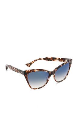 Dita Superstition Sunglasses - Cream Tortoise/Blue Flash