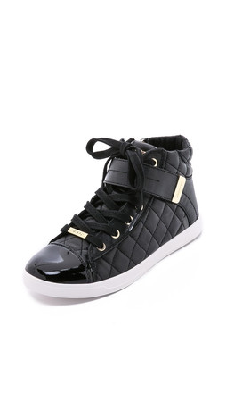 Dkny Betty Quilted Sneakers - Black