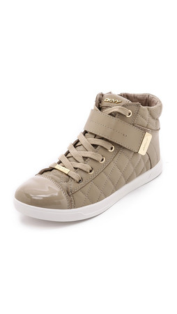 Dkny Betty Quilted Sneakers - Light Taupe