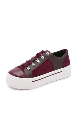 Dkny Briana Platform Sneakers - Beet Red
