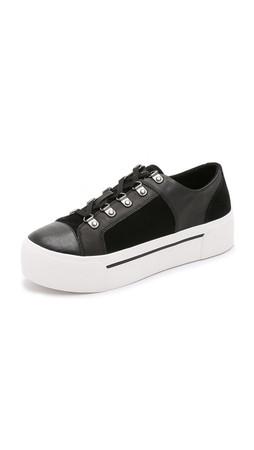 Dkny Briana Platform Sneakers - Black