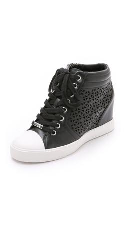 Dkny Cindy Wedge Sneakers - Black